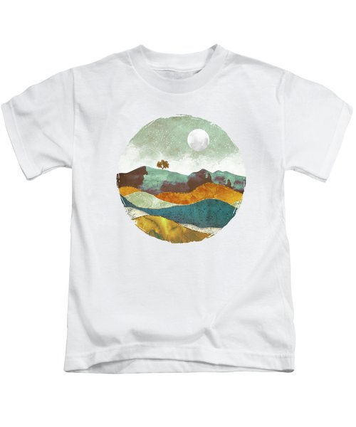 Night Fog Kids T-Shirt by Spacefrog Designs