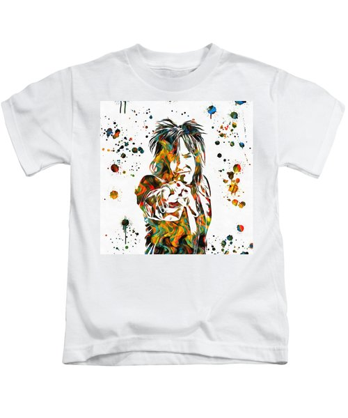 Nikki Sixx Paint Splatter Kids T-Shirt