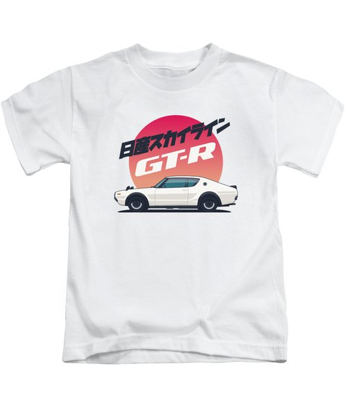 Nissan Skyline Gt-r C110 Side - Portrait White Kids T-Shirt