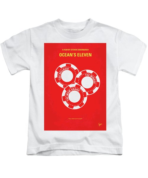No056 My Oceans 11 Minimal Movie Poster Kids T-Shirt