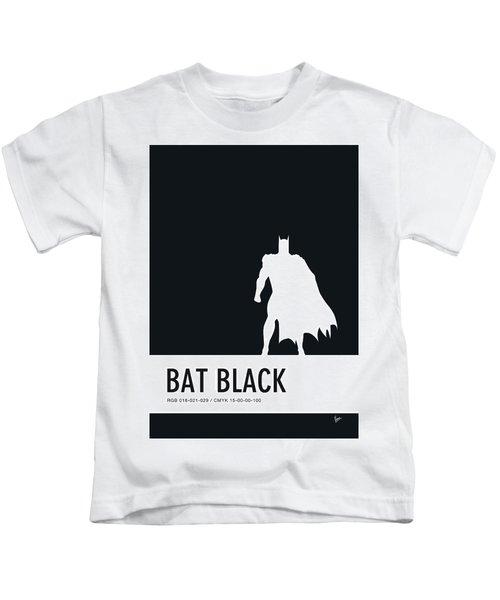 No20 My Minimal Color Code Poster Batman Kids T-Shirt