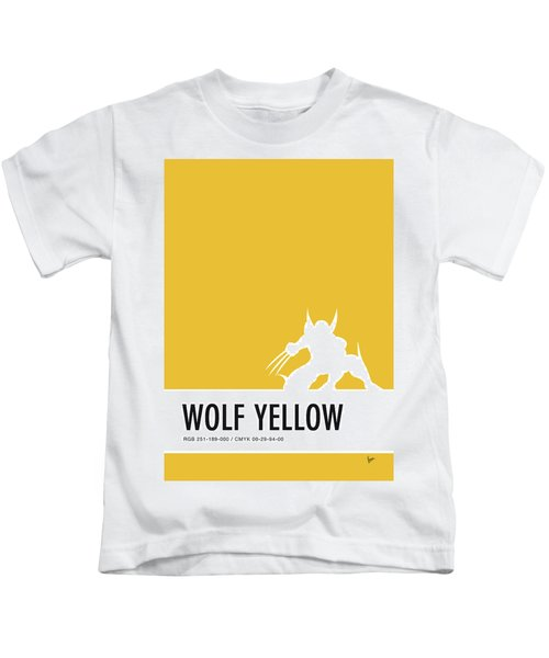 No21 My Minimal Color Code Poster Wolverine Kids T-Shirt