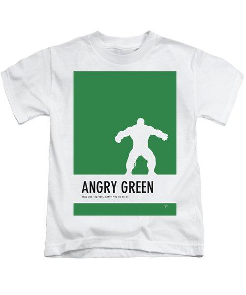 No22 My Minimal Color Code Poster Hulk Kids T-Shirt