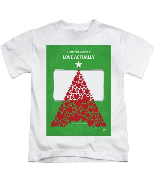 No701 My Love Actually Minimal Movie Poster Kids T-Shirt
