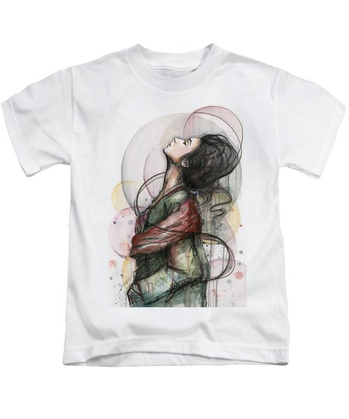 Beautiful Lady Kids T-Shirt