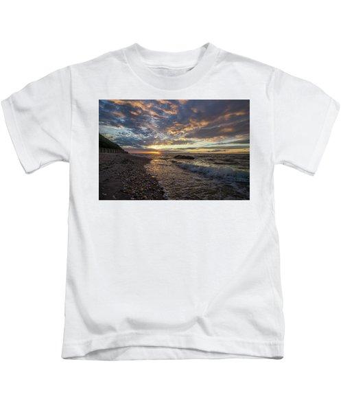 North Shore Long Island Sunset Kids T-Shirt