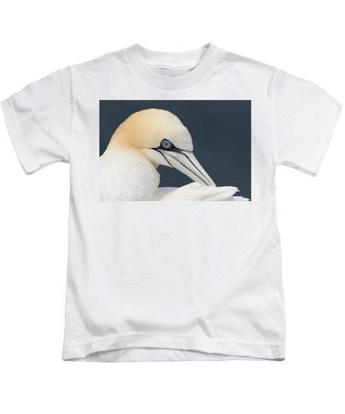 Northern Gannet At Troup Head - Scotland Kids T-Shirt