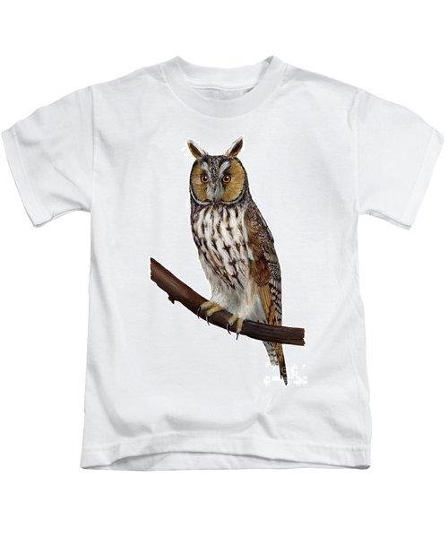 Northern Long-eared Owl Asio Otus - Hibou Moyen-duc - Buho Chico - Hornuggla - Nationalpark Eifel Kids T-Shirt