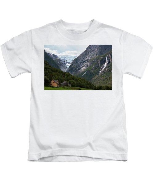 Norway Glacier Jostedalsbreen Kids T-Shirt
