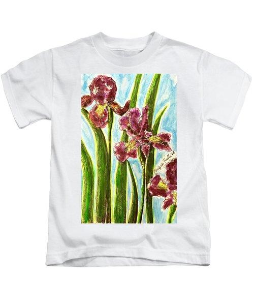 Nostalgic Irises Kids T-Shirt