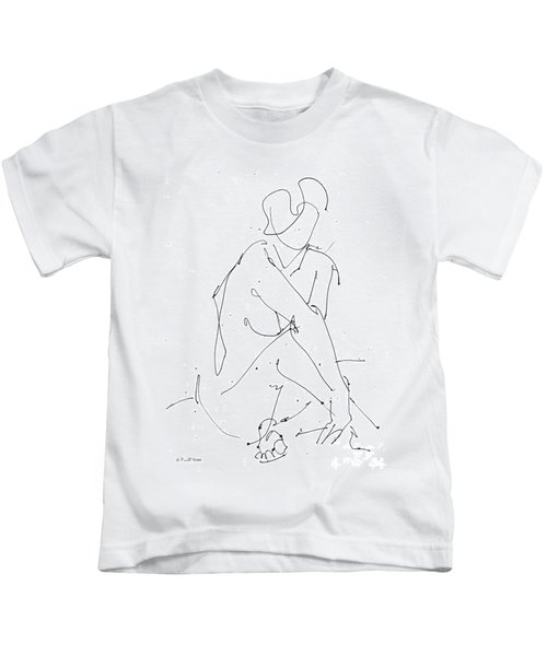 Nude-female-drawing-19 Kids T-Shirt