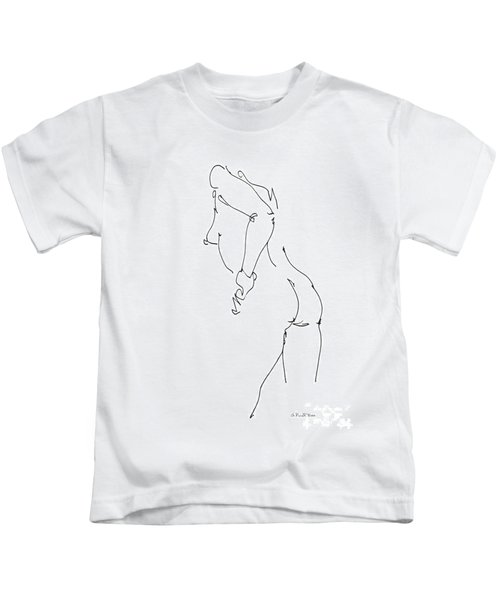 Nude Female Drawings 11 Kids T-Shirt
