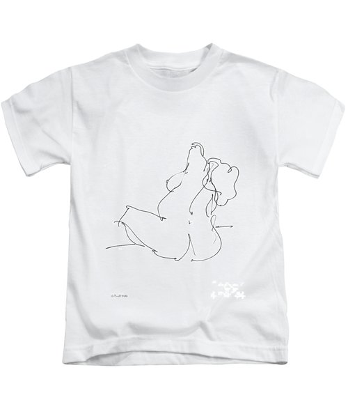 Nude-female-drawings-20 Kids T-Shirt