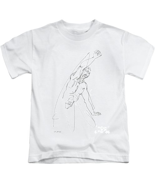 Nude_male_drawing_25 Kids T-Shirt