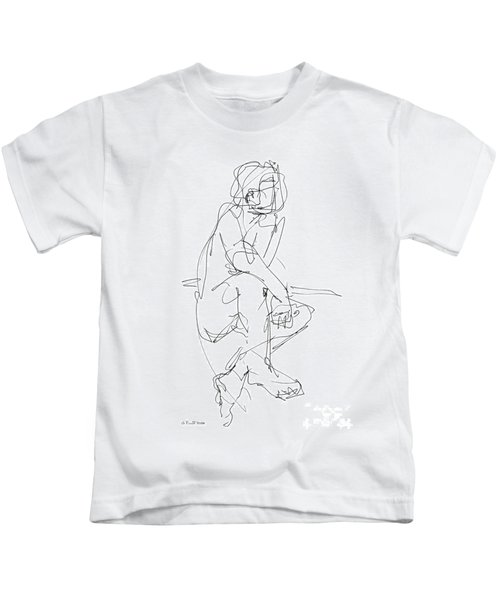Nude_male_drawing_29 Kids T-Shirt