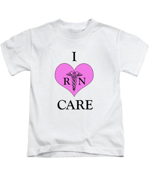 Nursing I Care -  Pink Kids T-Shirt by Mark Kiver
