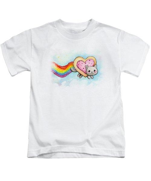 Nyan Cat Valentine Heart Kids T-Shirt