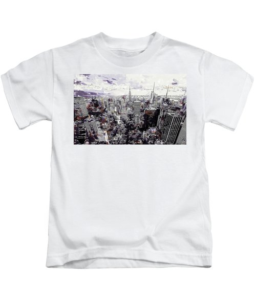 Nyc View From Rockefeller Center Kids T-Shirt