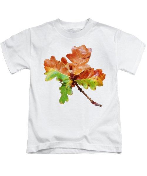 Oak Leaves Autumn Glow Kids T-Shirt