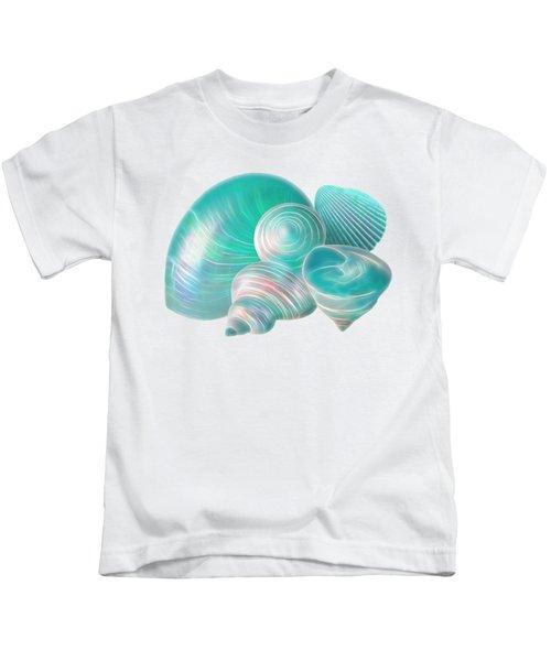 Ocean Glow Seashells Kids T-Shirt