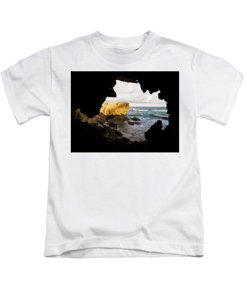 Oceanfront Cave Kids T-Shirt