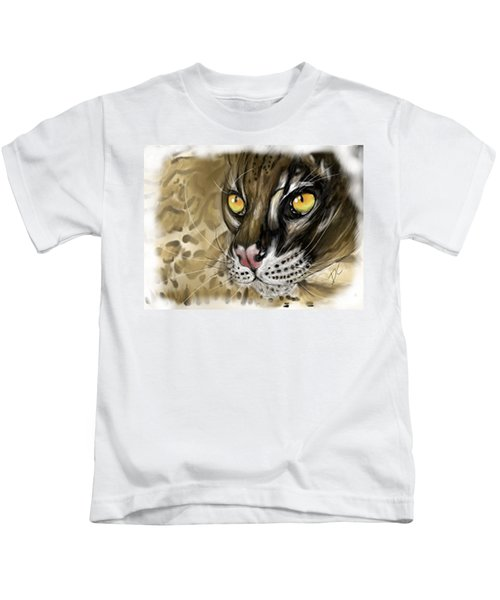 Ocelot Kids T-Shirt by Darren Cannell