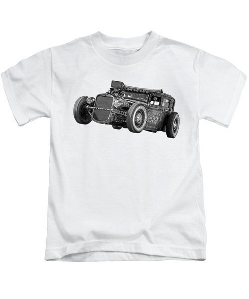 Old Blue Eyes In Black And White Kids T-Shirt