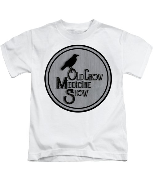 Old Crow Medicine Show Sign Kids T-Shirt by Little Bunny Sunshine