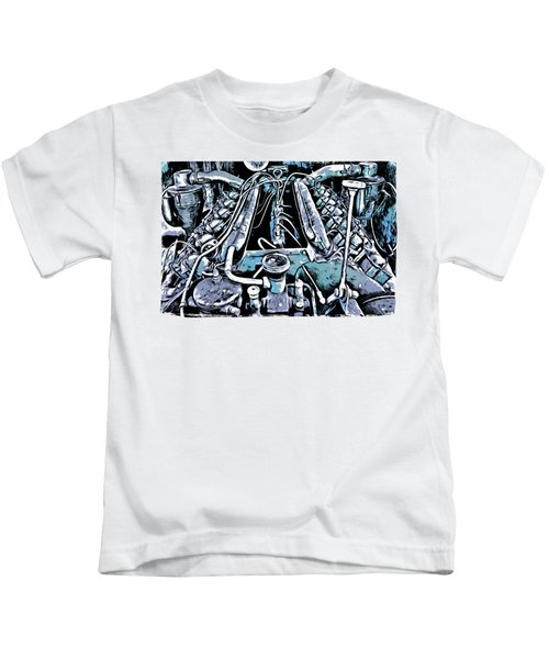 Old Engine Of Locomotive Kids T-Shirt