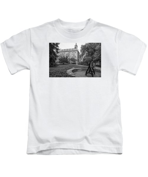 Old Main Penn State University  Kids T-Shirt by John McGraw