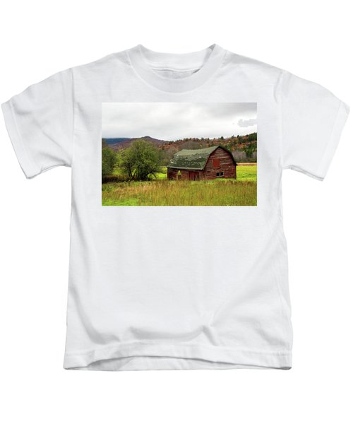 Old Red Adirondack Barn Kids T-Shirt