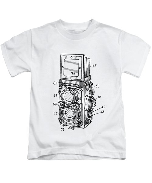 Kids T-Shirt featuring the digital art Old Rollie Vintage Camera T-shirt by Edward Fielding