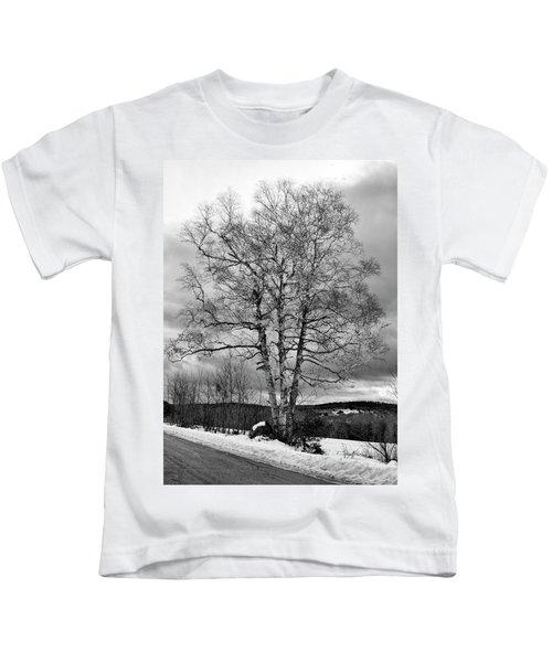Old White Birch Kids T-Shirt