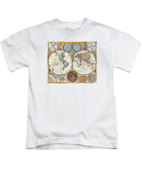 Old World Map Print From 1794 Kids T-Shirt