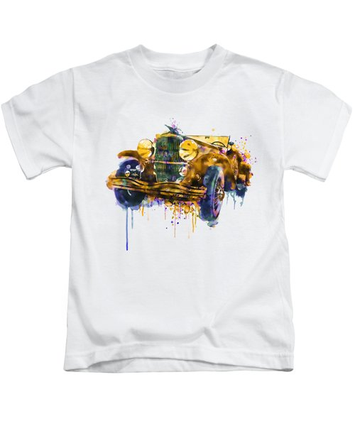 Oldtimer Automobile In Watercolor Kids T-Shirt