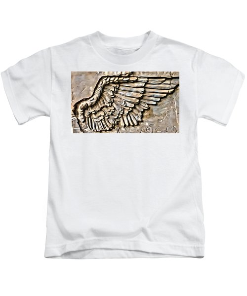 On Angels Wings Kids T-Shirt