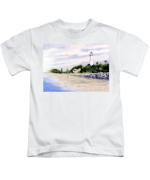 On The Beach At St. Simon's Island Kids T-Shirt