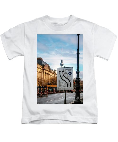 On The Road In Berlin Kids T-Shirt