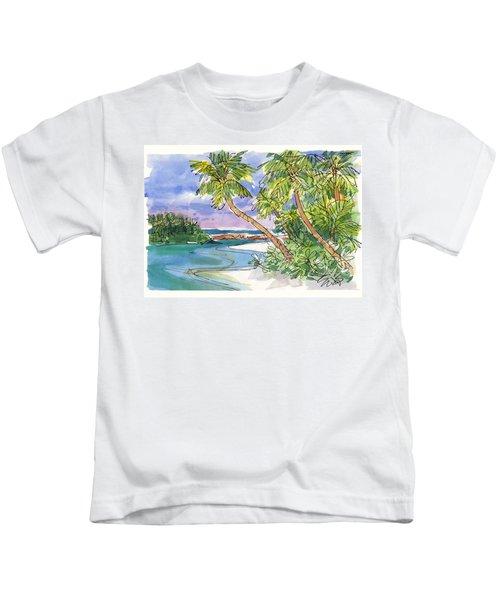 One-foot-island, Aitutaki Kids T-Shirt