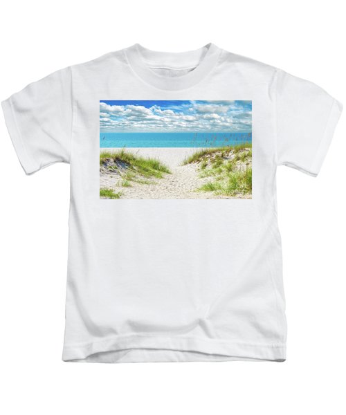 Orange Beach Al Seascape 1086a Kids T-Shirt