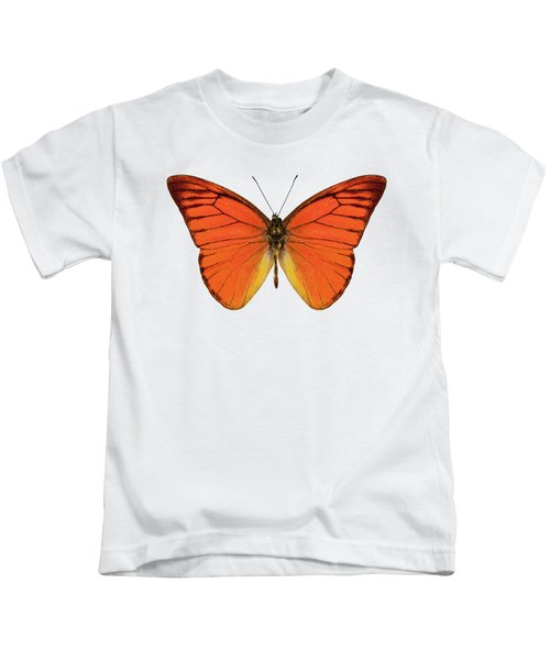Orange Butterfly Species Appias Nero Neronis  Kids T-Shirt
