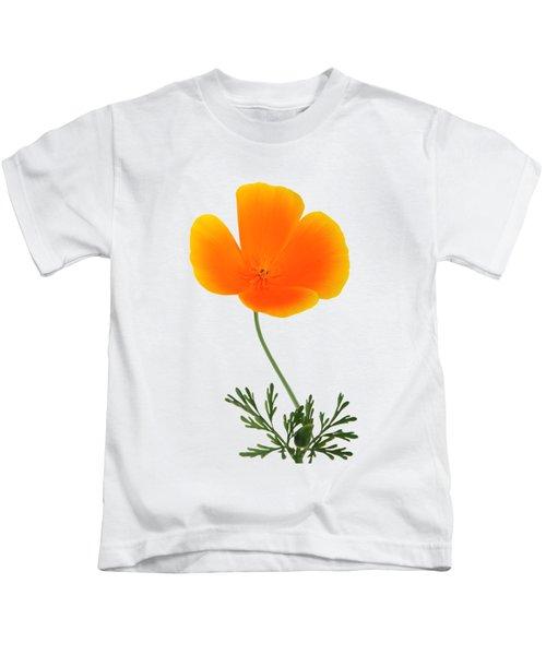 Orange Poppy Kids T-Shirt
