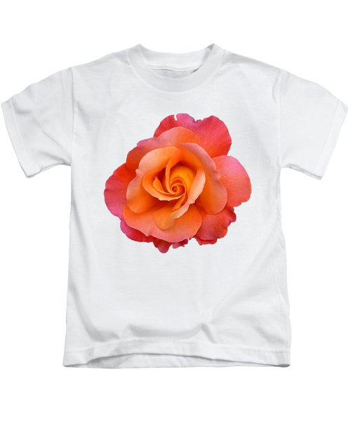 Orange Rosebud Highlight Kids T-Shirt