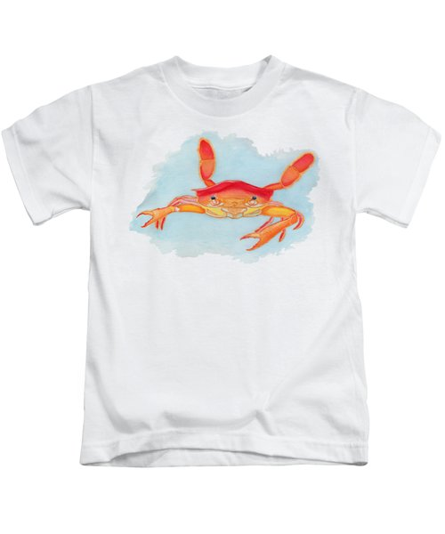 Orange Swimmer Crab Kids T-Shirt