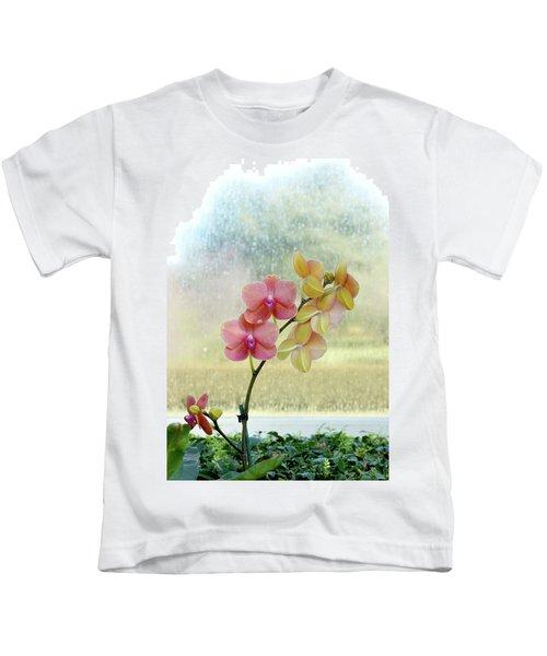 Orchid In Portrait Kids T-Shirt