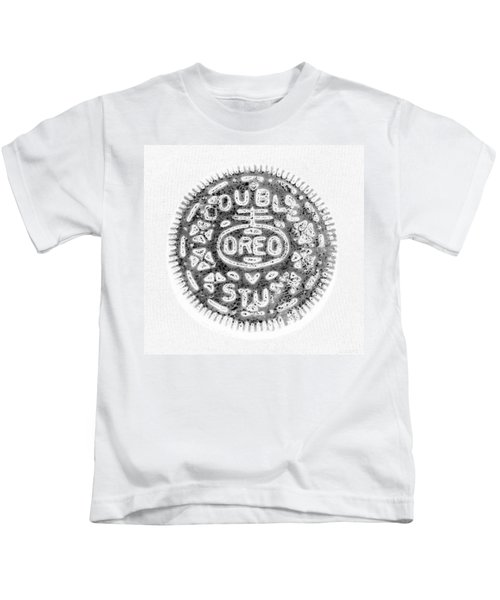 Oreo In Negetive Kids T-Shirt