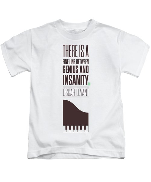 Oscar Levant Inspirational Typography Quotes Poster Kids T-Shirt