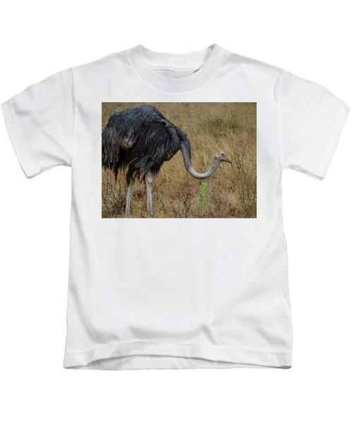 Ostrich In The Grass 2 Kids T-Shirt