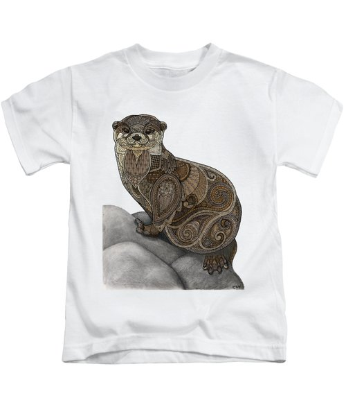 Otter Tangle Kids T-Shirt by ZH Field