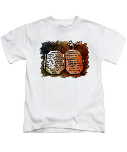 Our Father Who Art In Heaven Earthy Rainbow 3 Dimensional Kids T-Shirt